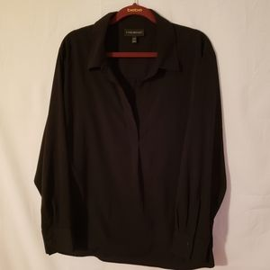 Lane  Bryant black pull over top.  A068